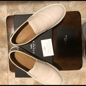 Coach Leather Slip on